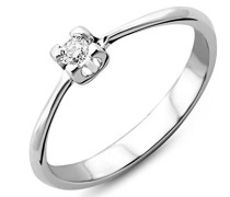 Damen-Ring 375 Weißgold mit Brillant 0.05ct M9002RM