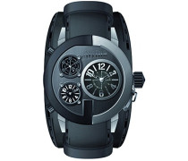 Herren-Armbanduhr Analog Quarz Leder 8500301