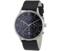Herren-Armbanduhr XL Quarz Analog Leder 6562-5030Q-i1