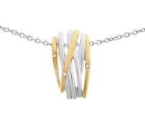 Damen Halskette 925 Sterling Silber Zirkonia weiß ZH-6038/1