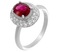 Damen-Halo-Ring zirkonia Ringgröße 50 (15.9) - ZR-7236/RU/50