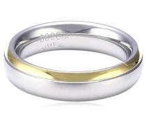 Damen-Ring teil-goldplattiert Titan GR.63 0130-0863