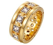 Damen-Ring 925 Sterling Silber rhodiniert Glas Zirkonia Inciter weiß