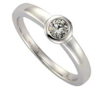 Damen-Ring 925 Sterling Silber 5mm Zirkonia weiß