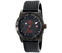 Herren-Armbanduhr XL Black Silikon BM522-622E