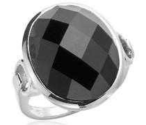 Ring  silber/schwarz DE 56