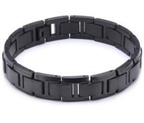 Boccia Unisex-Armband Titan schwarz 0337-04