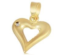 Goldmaid Damen-Anhänger Herz 585 Gelbgold 1 Diamant 0,01 Karat