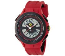 Ferrari Herren-Armbanduhr XL Analog - Digital Quarz Silikon 830019