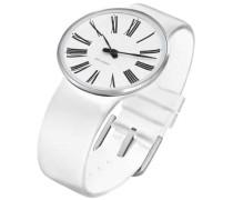 Unisex-Armbanduhr Analog Edelstahl weiss 43475