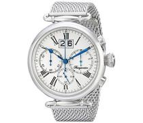 Armbanduhr für Herren mit Analog-Anzeige, Chronograph mit Edelstahl Armband - Wasserdichte Herrenarmbanduhr mit zeitlosem, schickem Design - klassische Uhr für Männer - BMP01-111 Toulouse