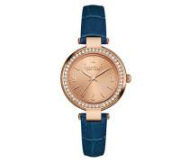 Caravelle New York Damen-Armbanduhr MINI T-BAR Analog Quarz Leder 44L178