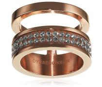Dyrberg/Kern Damen-Stapelring 15/02 Reca Ii Rg Crystal teilvergoldet Gr. 54 (17.2) - 338226