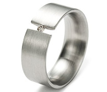 Damen-Ring Edelstahl 1 Diamant 0,04 ct weiß