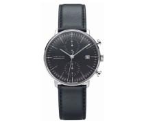 Herren-Armbanduhr XL Max Bill Chronoscope Chronograph Automatik Leder 027/4601.00
