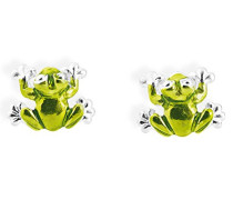 Damen- Ohrstecker Froggy 925 Silber Brandlack LD FG 25 GR