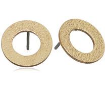 Jewelry Damen-Ohrstecker Messing aus der Serie vergoldet, 1.2 cm 281322003