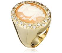 Damen-Ring Muschel Braun Ovalschliff - Größe 56 (17.8)