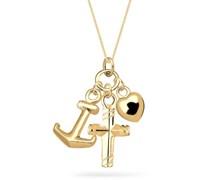 Goldhimmel Damen-Halskette Silber vergoldet 45cm 01527641_45