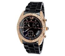 Damen-Armbanduhr Analog Quarz Premium Keramik Diamanten - STM15F3
