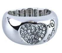 –ubr12003-s–Damenring–Edelstahl–silber–verstellbar
