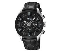 Herren-Armbanduhr XL Analog Leder 15787/6
