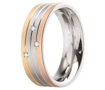 Unisex-Ring Titan Diamant (0.015 ct) transparent Brillantschliff