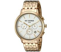 Ben Sherman Herren-Armbanduhr Portobello Professional Multi-Function Analog Quarz Edelstahl WB028GM