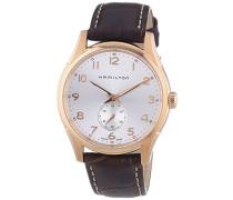 Herren-Armbanduhr XL Analog Quarz Leder H38441553
