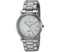Damen Quarzuhr mit Mutter von Pearl Zifferblatt Analog-Anzeige und Silber Edelstahl Armband fc1250sm