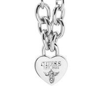 Guess Damen-Kette mit Anhänger Herz Messing 45.5 cm - UBN21577
