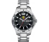 Ferrari Herren-Armbanduhr XL Analog Quarz Edelstahl 830094