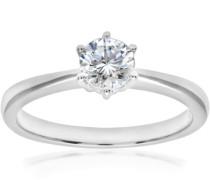Damen-Verlobungsring 18 K 585 Weißgold Diamant 0,51 ct PR07687W-051HVS2-M