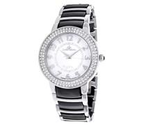 Damen-Armbanduhr Analog Quarz Premium Keramik Diamanten - STM13G462