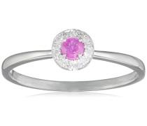 Damen-Ring 9 Karat (375) Weißgold Rubin-badm 07056-0001