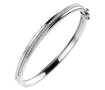 Damen-Armreif 925 Silber rhodiniert Zirkonia weiß Brillantschliff 18.5 cm - ZA-7026