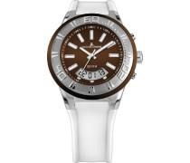 Jacques Lemans Unisex-Armbanduhr Miami Analog - Digital Quarz Silikon 1-1786D