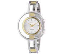 Regent Damen-Armbanduhr Analog Quarz Edelstahl beschichtet 12230592