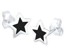Elli Damen-Ohrstecker Sterne 925 Sterling Silber 3201508