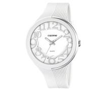 Damen-Armbanduhr Analog Plastik Weiß K5706/1