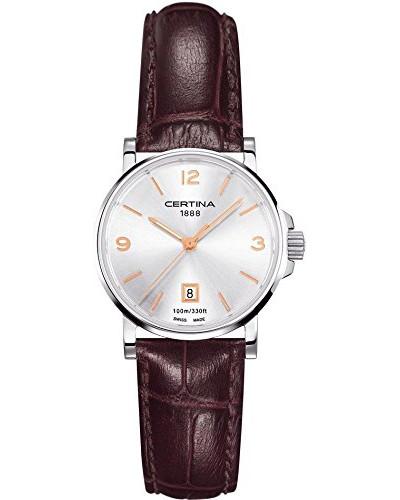 Damen-Armbanduhr XS Analog Quarz Leder C017.210.16.037.01