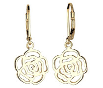 Damen-Ohrhänger Rose verspielte Blumen-Ohrhänger 925 Silber - 0301552715