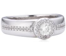 Diamonfire Damen-Ring Classic 925 Silber rhodiniert Brillantschliff weiß Zirkonia Gr. 52 (16.6) - 61/1492/1/082 902