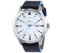 Regent Herren-Armbanduhr XL Analog Quarz Leder 11110697