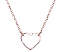 Damen-Kette mit Anhänger Herz 925 Silber 42 cm - 0102310615_42