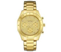 Caravelle New York Damen-Armbanduhr Chronograph Quarz Edelstahl 44L213