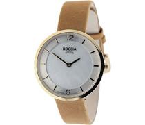 Damen-Armbanduhr Analog Quarz Leder 3244-03