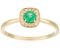 Damen-Ring 18 Karat Gelbgold, Smaragd-badm 07072-0001