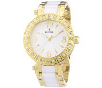 Damen-Armbanduhr Analog Quarz verschiedene Materialien F16644/1
