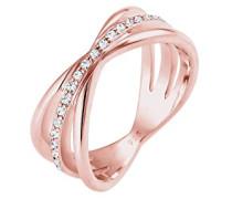 Premium Damen-Ring Wickel 925 Silber weiß Facettenschliff
